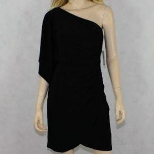 Nwt Bisou Bisou black one shoulde dress sz 10